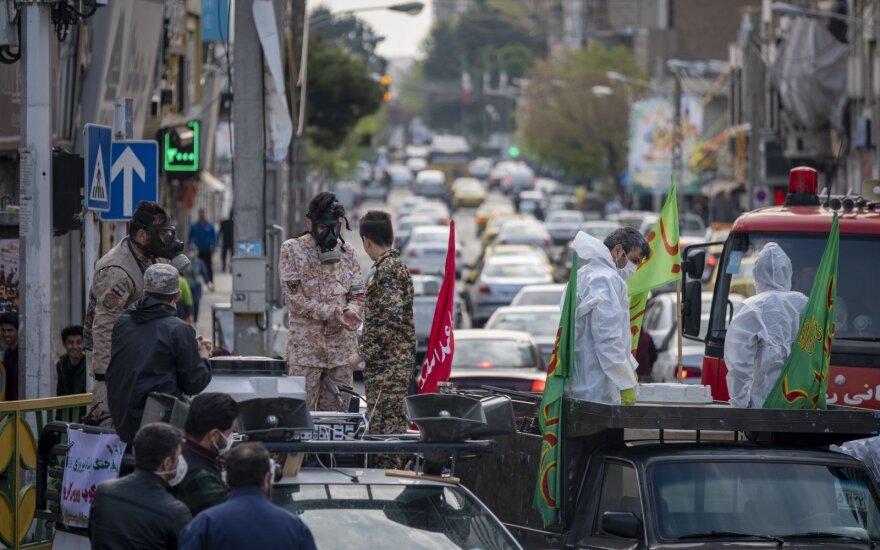 Irane per parą užsikrėtusiųjų koronavirusu skaičius padidėjo daugiau kaip 1,9 tūkstančio