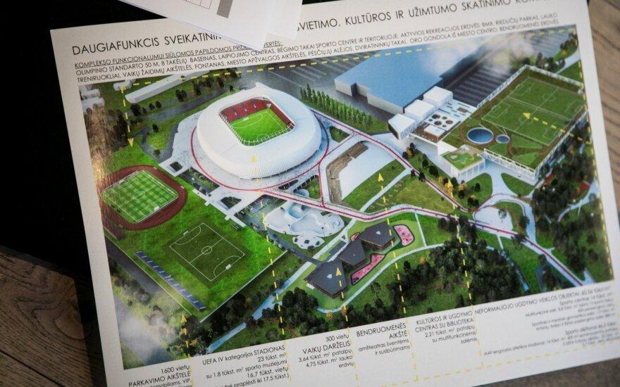 Pristatė, kaip galėtų atrodyti nacionalinis stadionas