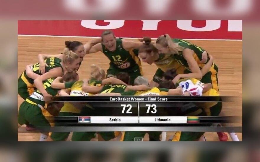 Fantastika: lietuvės vėl panaikino 18 taškų deficitą, pataikė iš aikštės vidurio ir įšoko į ketvirtfinalį!