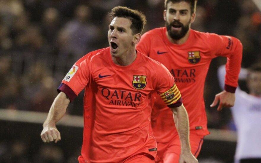 Lionelis Messi ir Gerardas Pique