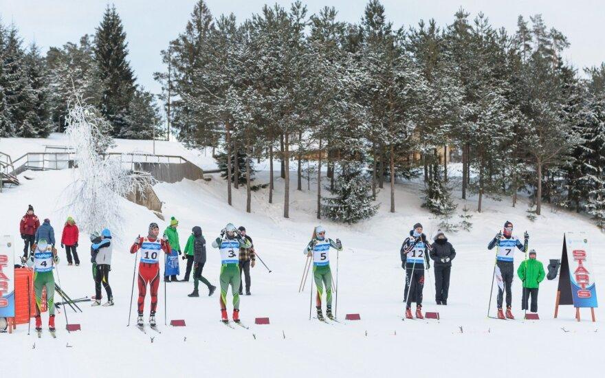 Lietuvos slidinėjimo čempionato medaliai išdalinti Latvijoje