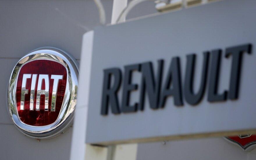"""Fiat Chrysler"" koncernas nebesiūlys ""Renault"" susijungti"