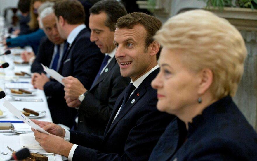 Grybauskaitė Paryžiuje susitiks su Macronu