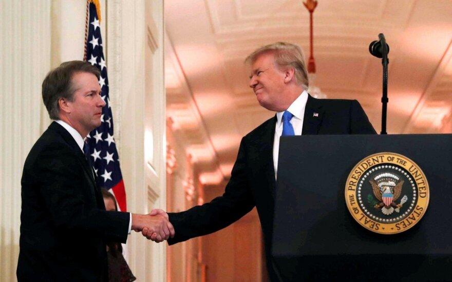 Brettas Kavanaugh ir Donaldas Trumpas