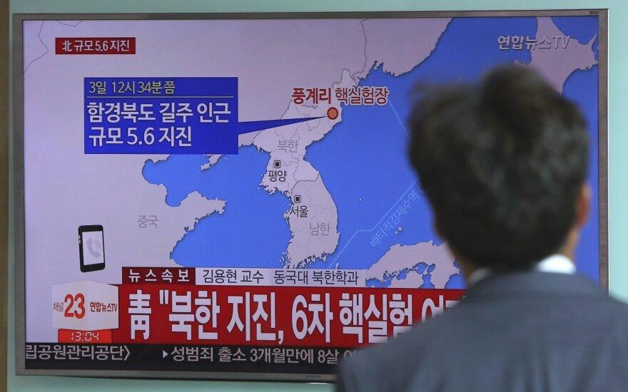 Japonija pareiškė Šiaurės Korėjai protestą dėl raketų paleidimo