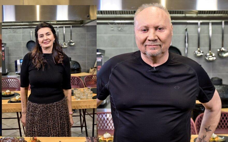 Aleksandras Ivanauskas-Fara su žmona