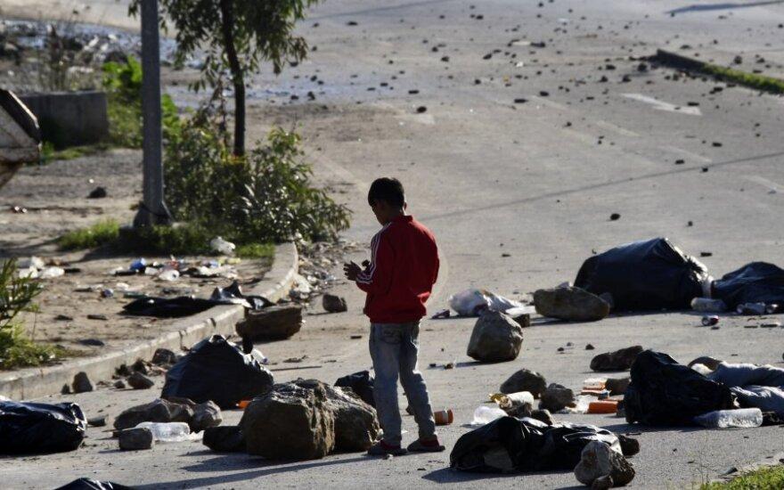 Graikijos migrantų stovykla po riaušių