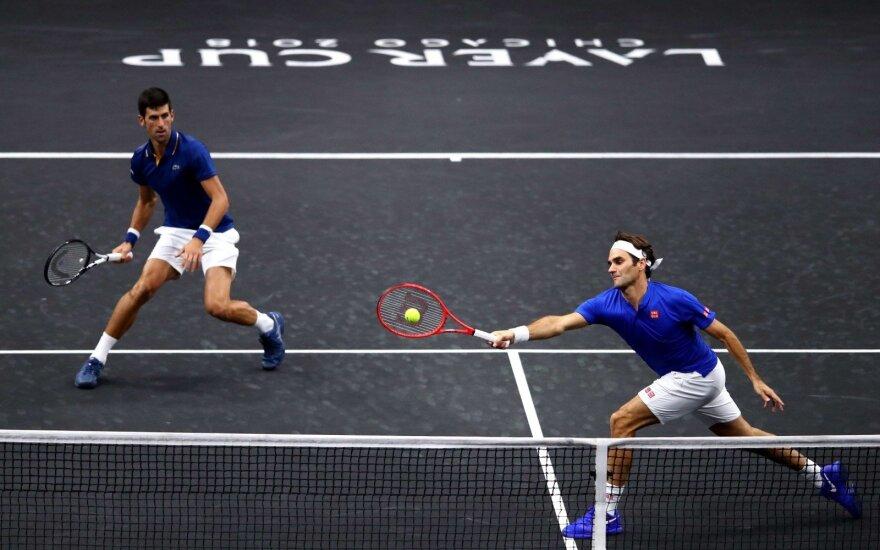 Jėgas suvieniję Federeris ir Djokovičius patyrė nesėkmę
