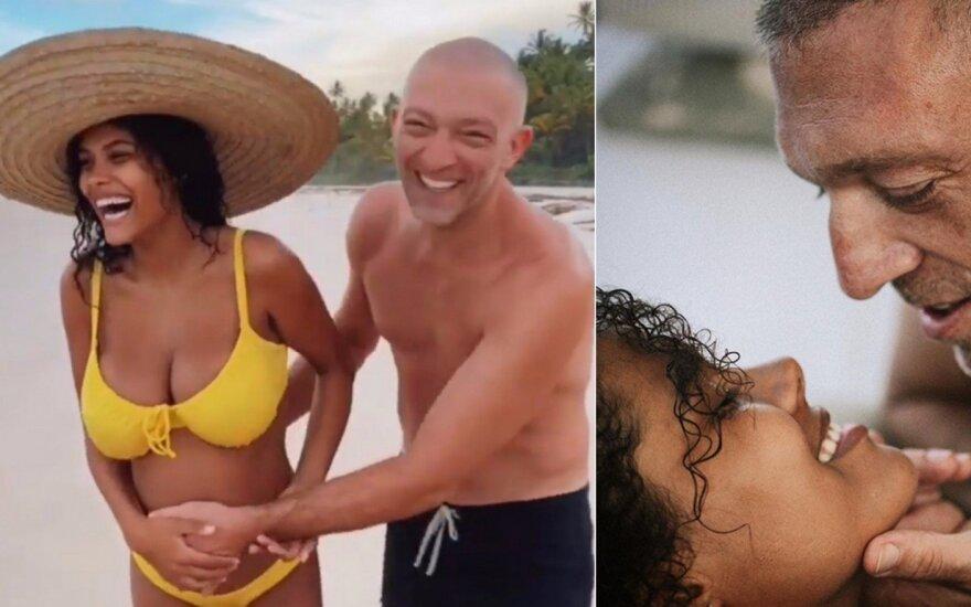Vincentas Casselis su žmona Tina Kunakey