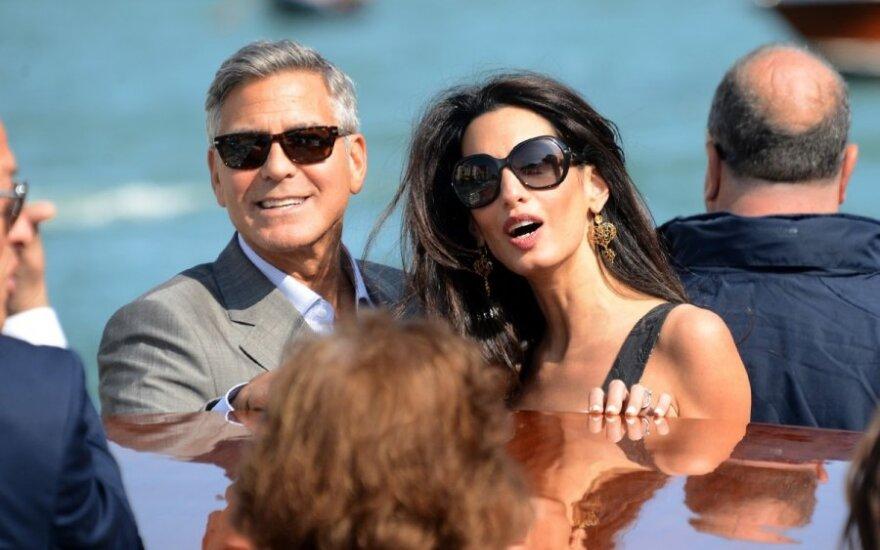 Pasaulis laukia George'o Clooney ir Amal Alamuddin vestuvių Venecijoje