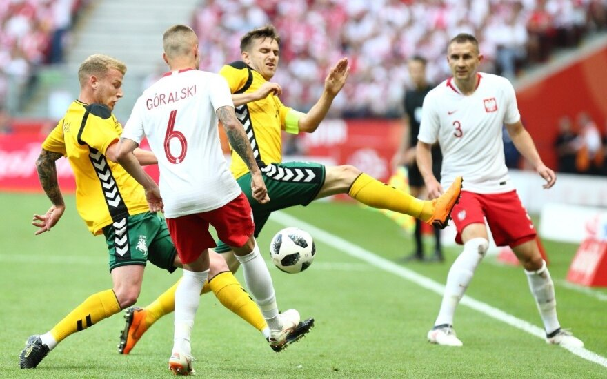 Kontrolinės futbolo rungtynės: Lenkija – Lietuva