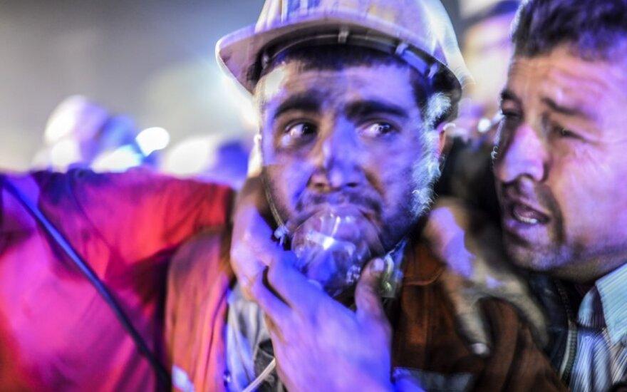 Sprogimo Turkijos šachtoje aukų skaičius auga, premjeras teisinasi