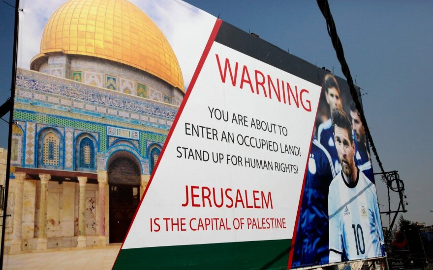 Palestiniečiai siekė sustabdyti draugiškas rungtynes tarp Argentinos ir Izraelio Jeruzalėje