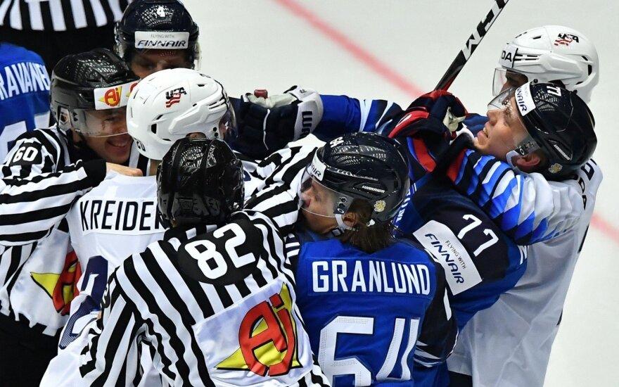 Suomiai sutriuškino JAV rinktinę ir tapo grupės nugalėtojais
