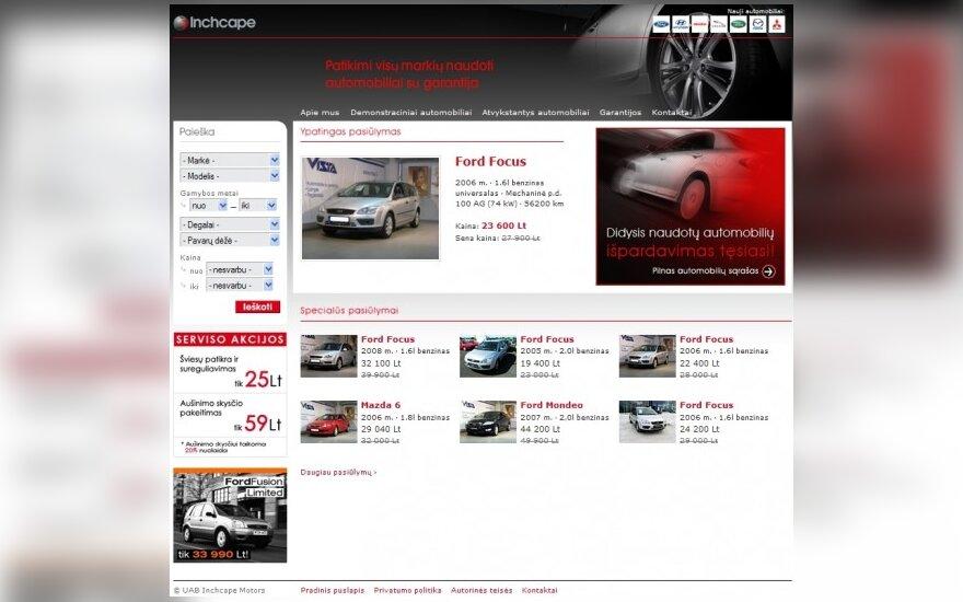 """""""Inchcape Motors"""" atnaujino naudotų automobilių prekybos internetinę svetainę"""