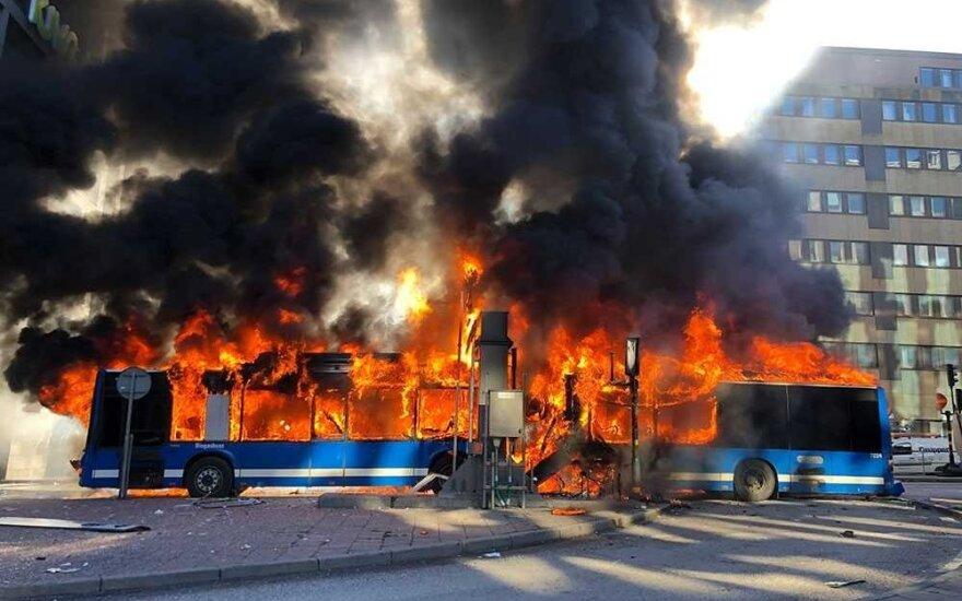 Stokholme sprogo autobusas