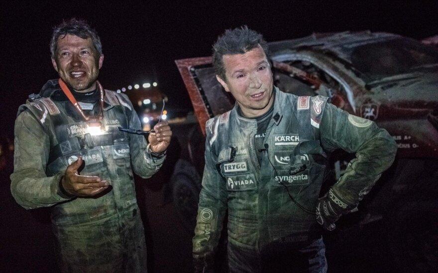 Darius Vaičiulis (kairėje) ir Antanas Juknevičius. iGO2Dakar nuotr.