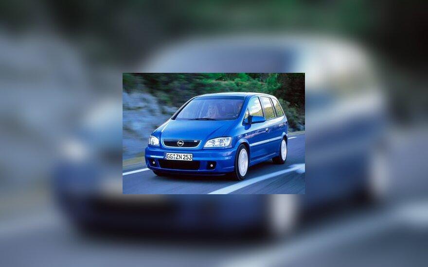 """Opel Zafira"" automobilis"