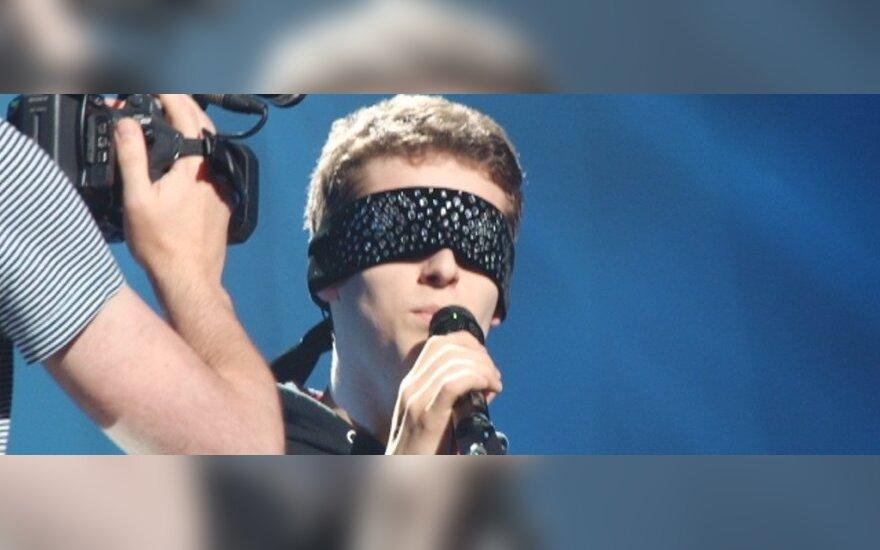 """Donatas Montvydas pirmosios repeticijos prieš """"Euroviziją"""" metu"""