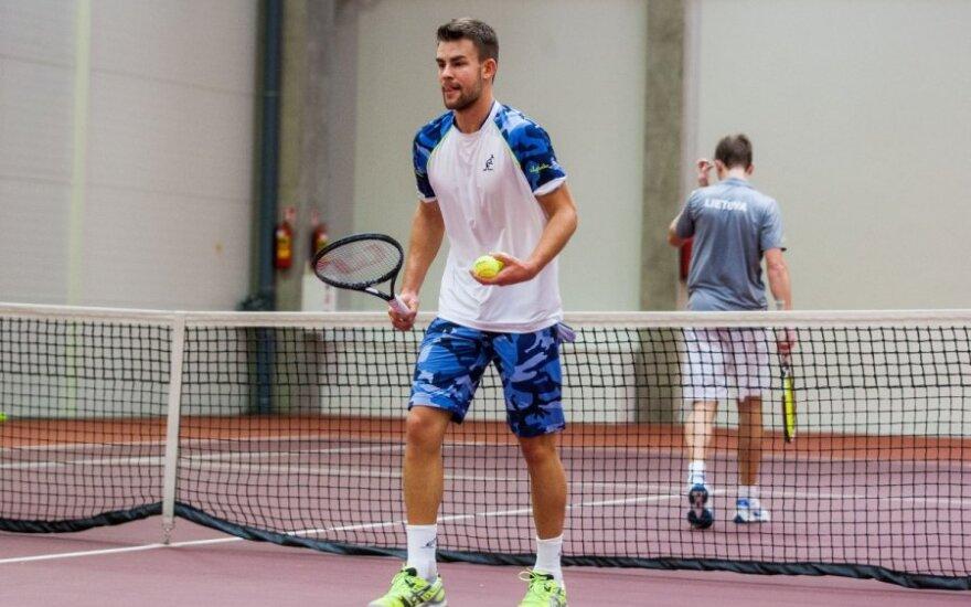 L. Grigelis ITF turnyre pralaimėjo 20-mečiui prancūzui