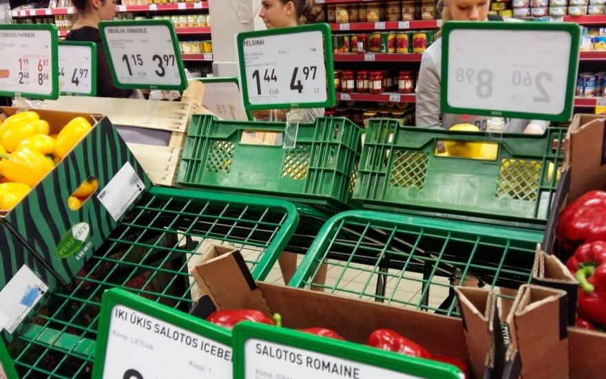 Tyrimas: kiek gali skirtis pirkinių krepšelio kaina skirtingų miestų parduotuvėse