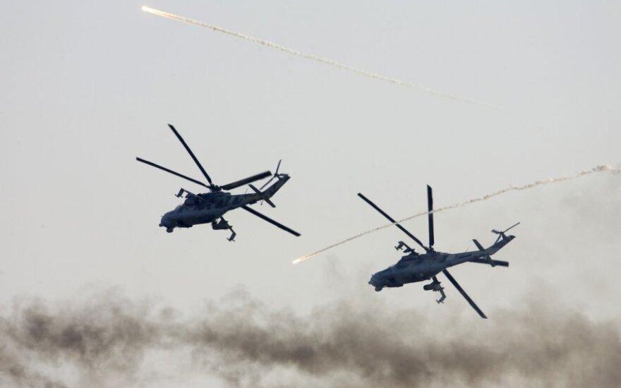 Baltarusių sraigtasparniai Mi-24