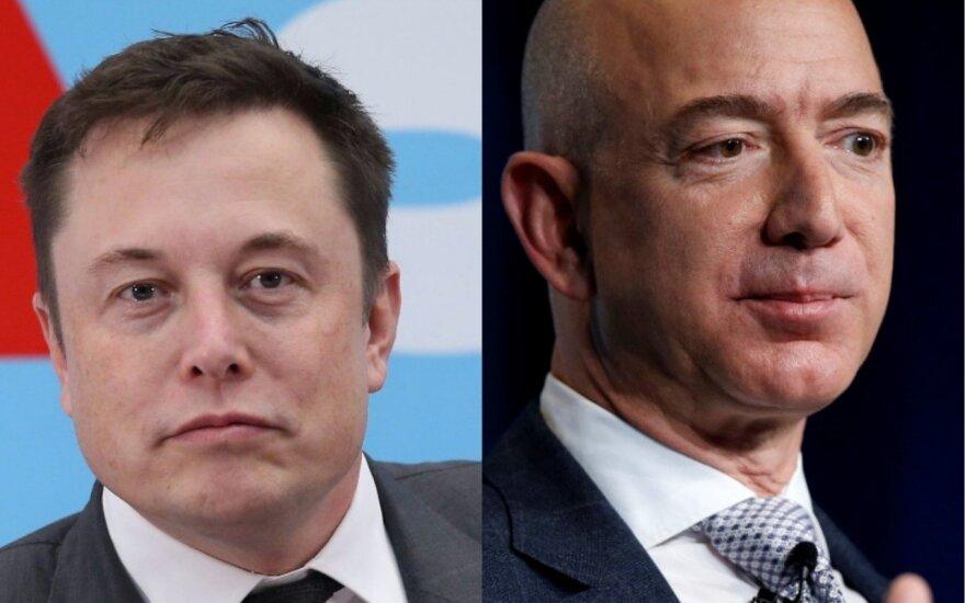 Jeffas Bezosas, Elonas Muskas