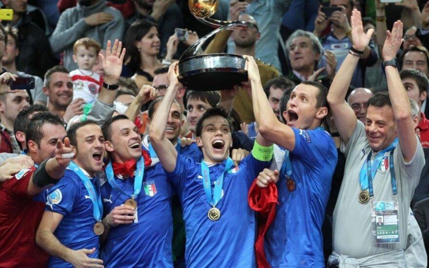 Italijos salės futbolo rinktinė Europos čempionato finale įveikė rusus