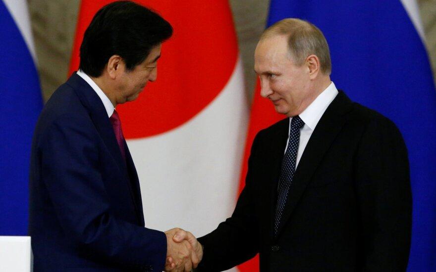 """Putinas: """"naivu"""" tikėtis greitai išspręsti ginčą su Japonija dėl salų"""