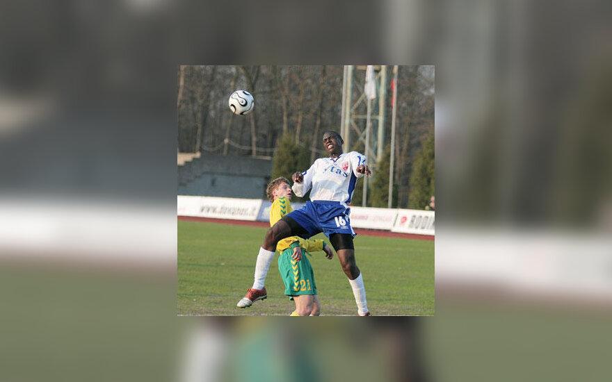 "FBK ""Kaunas"" ir ""FC Vilnius"" dvikovos akimirka"