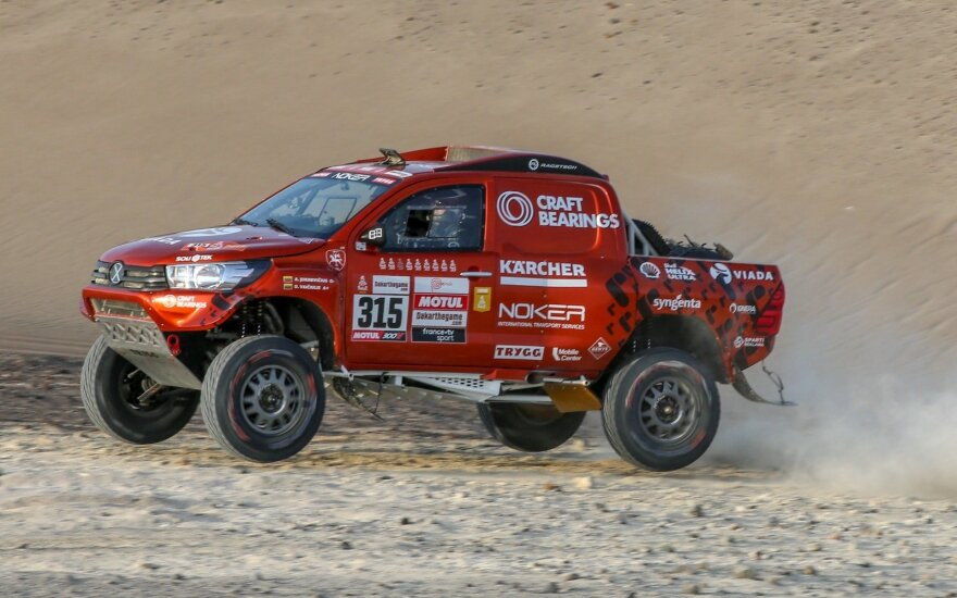 Antanas Juknevičius 2-ajam 2019 m. Dakaro greičio ruože