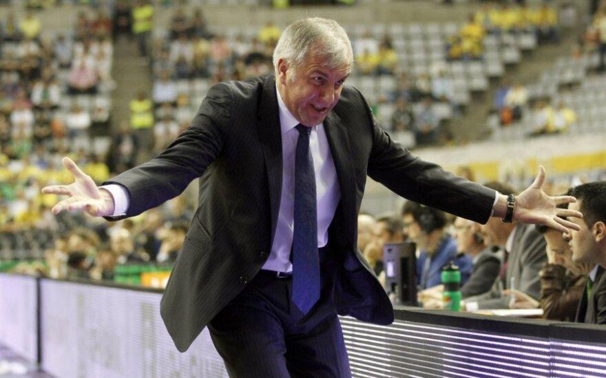 """""""Panathinaikos"""" treneris Željko Obradovičius"""
