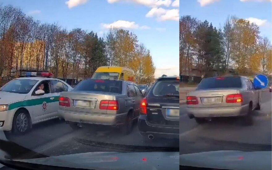 Įžūlus vairuotojo elgesys sostinėje