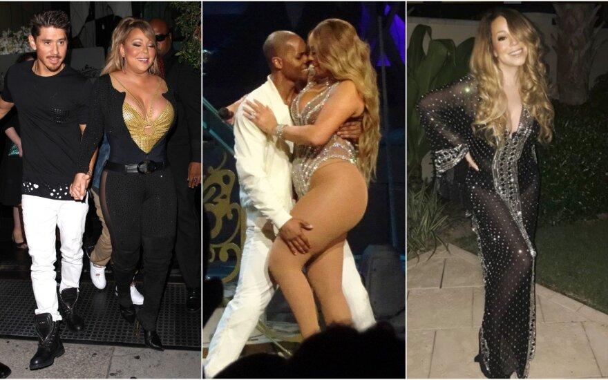 Sulieknėjusi Mariah Carey