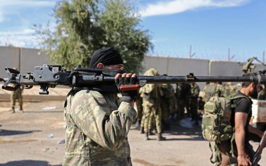 Kurdų kovotojas Sirijoje