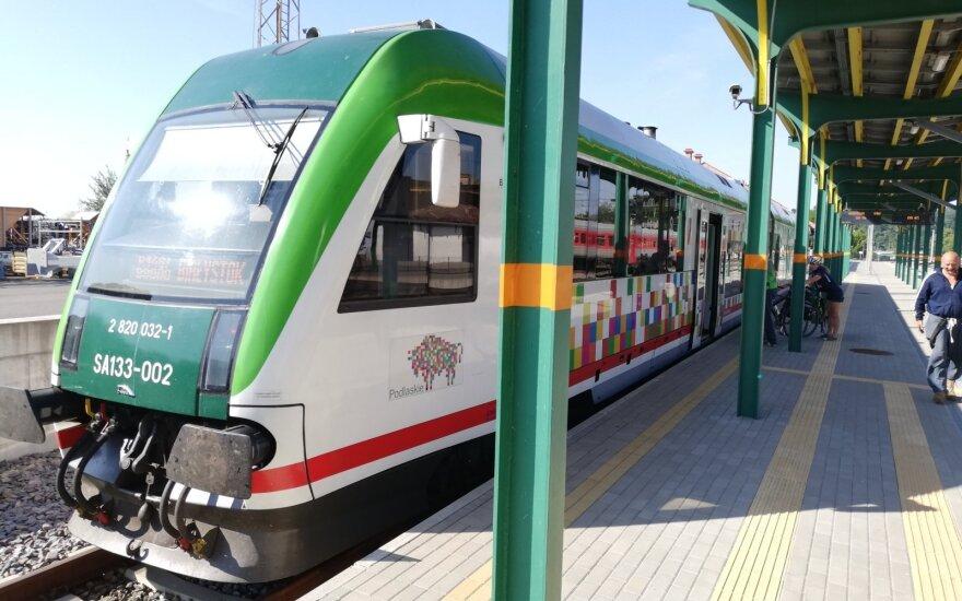 """""""Rail Baltica"""" traukiniai kursuoja tarp Balstogės ir Kauno"""
