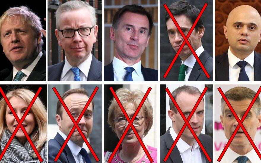 Kandidatai į JK premjero postą
