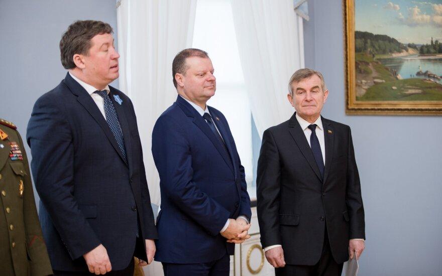 Raimundas Karoblis, Saulius Skvernelis, Viktoras Pranckietis