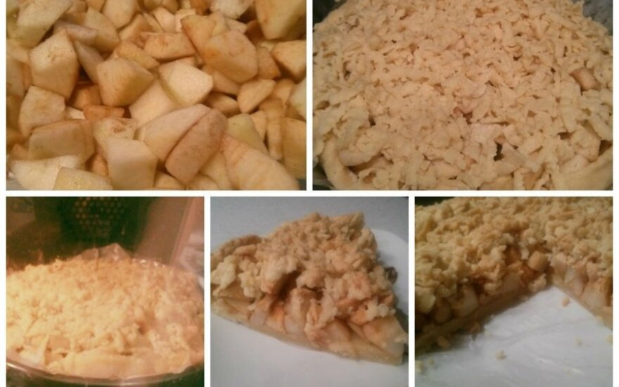Negali nepavykti: trupininis obuolių pyragas