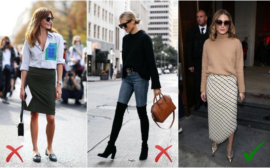 Madingi ir nebemadingi drabužiai šį rudenį (Vida Press ir Instagram nuotr.)