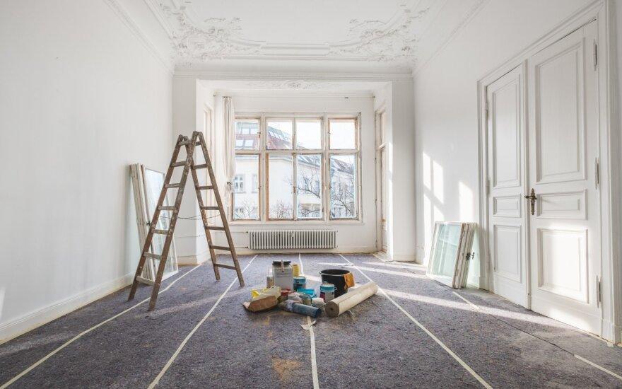 Kada remontuoti būstą, kad į duris nesibelstų pikti kaimynai?