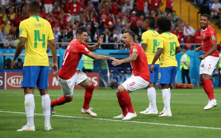 Šveicarai sustabdė Brazilijos rinktinę su Neymaru