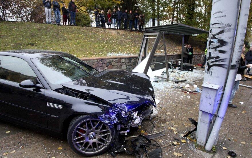 Specialistas: kvailoms avarijoms didelis greitis nebūtinas