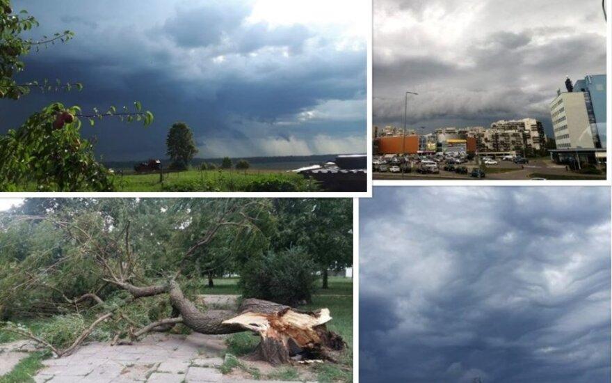 """Pro Lietuvą praslinko lietus (""""Orai ir klimatas Lietuvoje"""" nuotrauka)"""