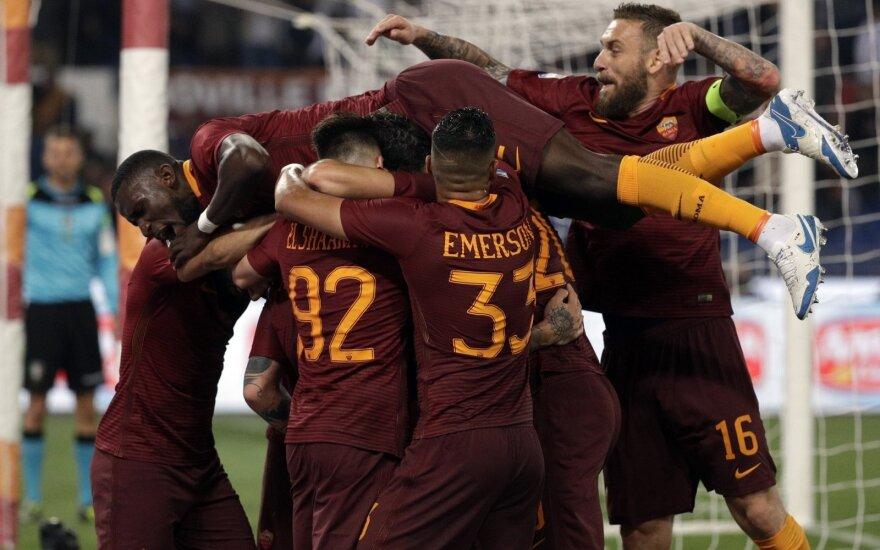 Romos futbolininkai