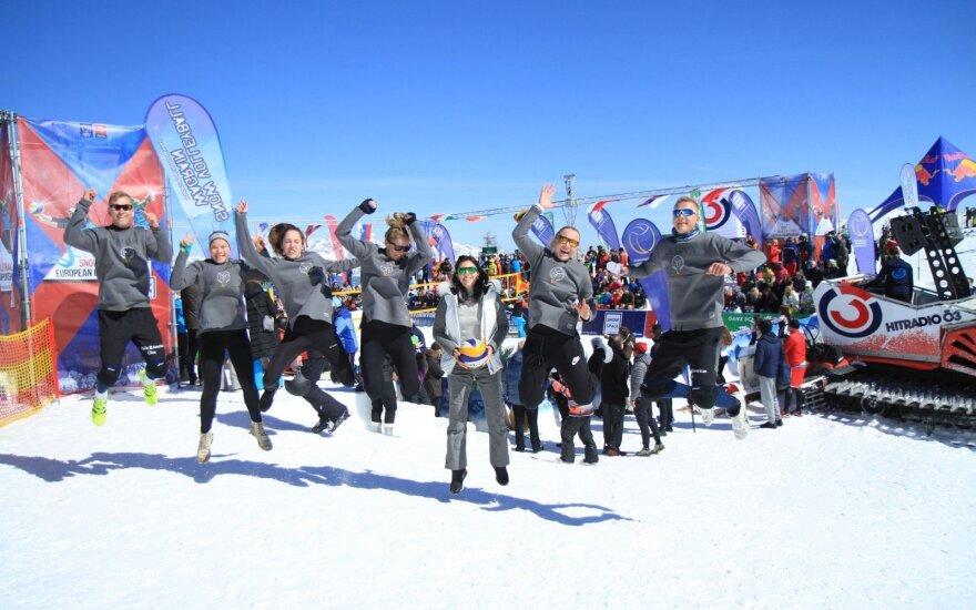 Europos sniego tinklinio čempionatas, Lietuvos sportininkai