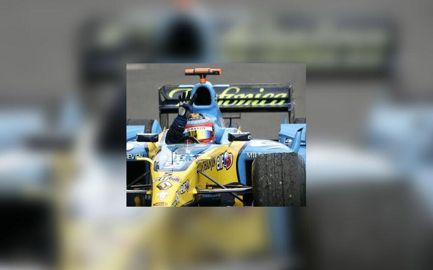 """Fernando Alonso (""""Renault"""") laimėjo ketvirtą kartą"""