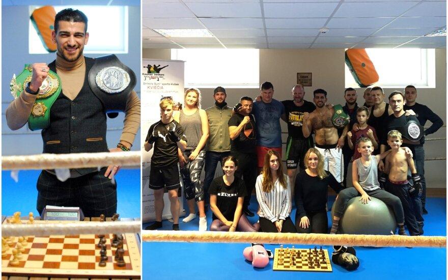 Dymeras Agasarianas, šachmatų boksas / FOTO: Lietuvos šachmatų bokso federacija