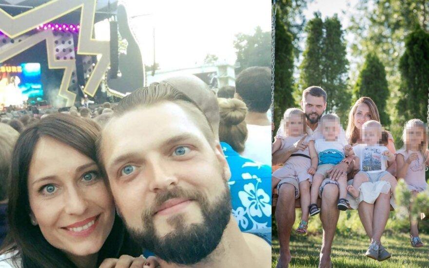 Mindaugas Žiupsnis su šeima