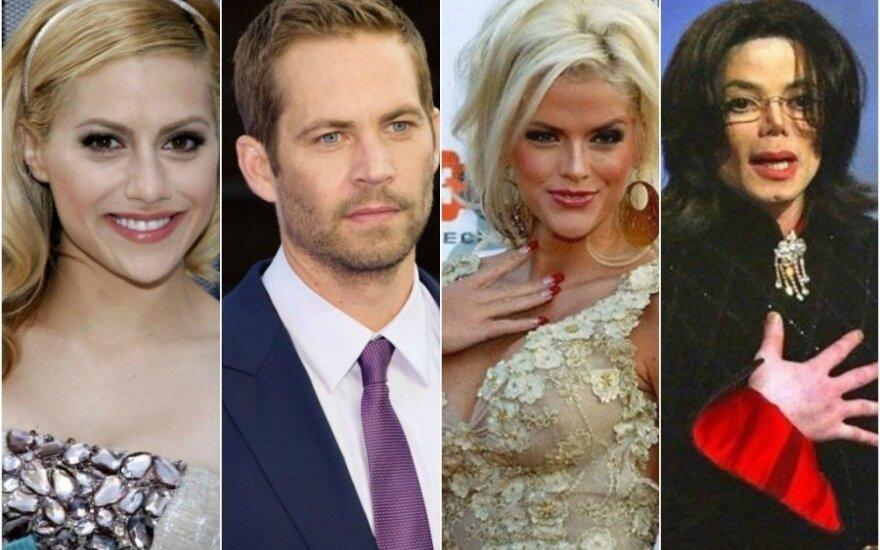 Brittany Murphy, Paulas Walkeris, Anna Nicole Smith, Michaelis Jacksonas